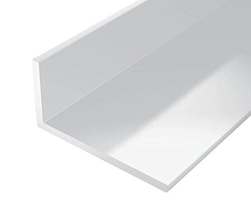 GAH-Alberts 479220 Winkelprofil - Kunststoff, weiß, 1000 x 20 x 10 mm