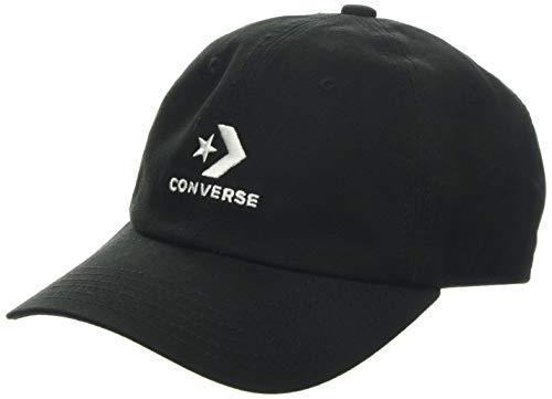 Converse Unisex Cap Schirmmütze, Schwarz (Black 10008477-A01), (Herstellergröße: One Size)