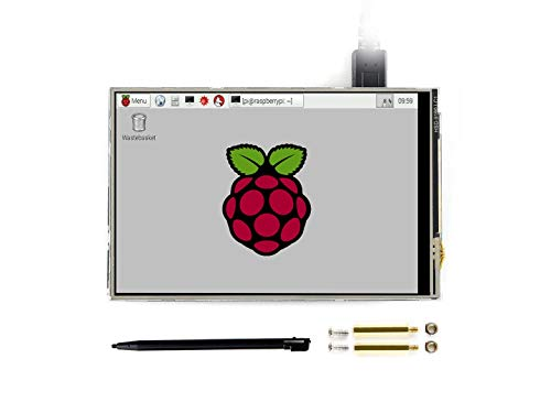 Waveshare 4inch RPi LCD (C) Monitor 480x320 Resolution Resistive Touch Screen TFT Display Designed for Raspberry Pi 125MHz High-Speed SPI 4in Lcd