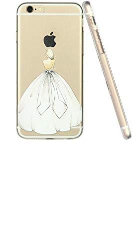 iPhone 6 6S Hülle von licaso für das Apple iPhone 6 & 6S aus TPU Silikon White Dress Brautkleid...