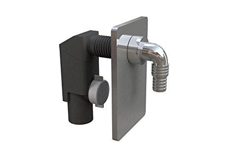Bonomini 3400cr40b9Unterputz-Siphon für Waschmaschine oder Spülmaschine, Schwarz/Chrom