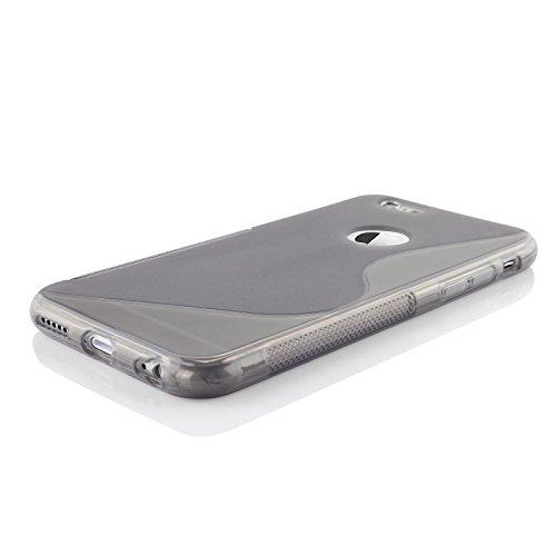 Original Urcover® iPhone 6 s Hülle aus TPU im S-Line Design [deutscher Fachhandel] Lila Schwarz Transparent mit Logoloch