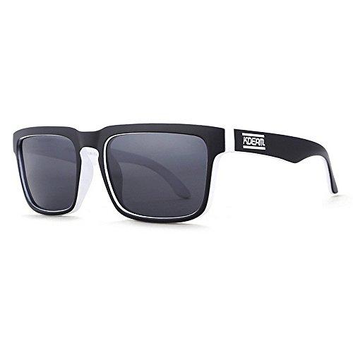Peggy Gu Radfahren Brille Sonnenbrille Klassische schwarz-weiß umrandeten Sport Sonnenbrillen UV400 Schutz Driving Radfahren Laufen Angeln Golf Stilvolle und dauerhaften