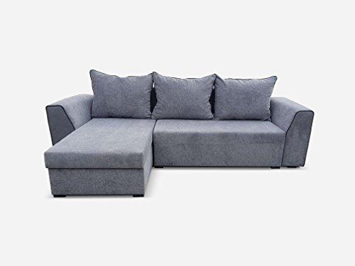 Avanti trendstore - bondi - divano ad angolo in microfibra con funzione letto e 2 cassettoni integrati, moderno ed elegante, ideale per il soggiorno