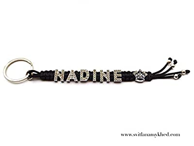 Porte Clés Breloque Bijoux de sac Personnalisé avec prénom NADINE