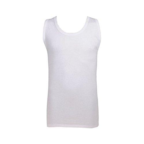 Weiße Shirts ohne Arm im Doppelpack // Bis 6XL weiß (01)