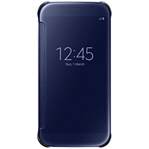 Samsung EF-ZG920 de la opinión clara del carcasa del tirón para la galaxia S6 SM G920-G920, Azul