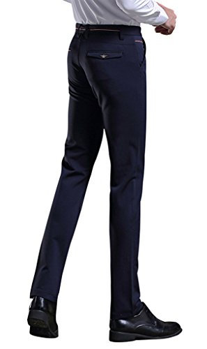 Gillbro Pantalons pour hommes stretch stretch Noir