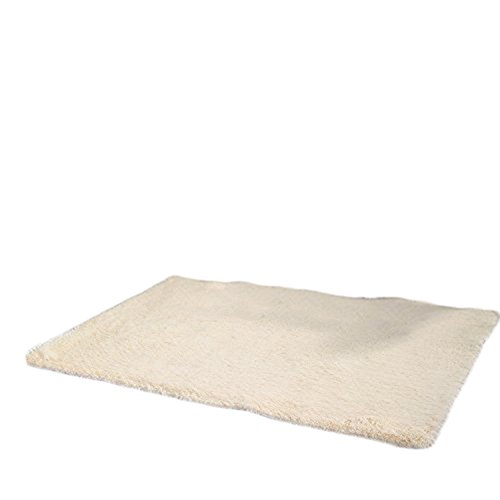 Wdoit 1pcs elegante semplice colore solido rettangolare tappeto camera da letto soggiorno cucina bagno studio antiscivolo cuscino decorativo & # xff08; colore facoltativo & # xff09, beige, 40cm*60cm