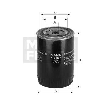 Filtro olio sostituzione MANN 65003490