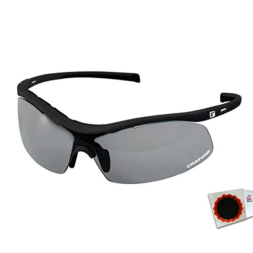 Cratoni Sonnenbrille C-Shade Glas photochromic matt sz + Flicken