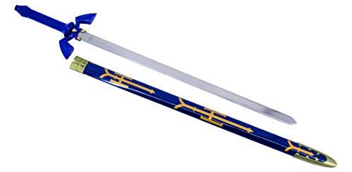 KOSxBO® XXL 100 cm Zelda Master Sword Schwert Legend of Zelda Single Sword - Swords - Schwerter - Edelstahl Klinge - Originalgetreu 1:1 Cosplay -