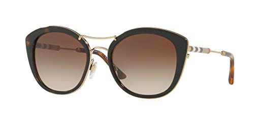 Burberry 0be4251q 300213 53, occhiali da sole donna, marrone (dark havana/browngradient)