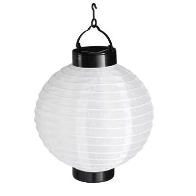 LED Solar Laterne Weiß, LED Solar Lampion Weiß von Lights4fun auf Lampenhans.de