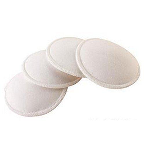 LANDUM Weiche, saugfähige Stillkissen Waschbare Wiederverwendbare Wattepads BreasSJRAeding Liner Breast Pad für die Pflege 4 Stück -