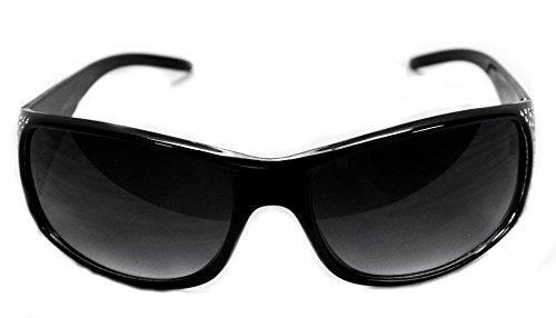 VOX Frauen polarisierte Sonnenbrille Designermode Brillen kostenlos aus Mikrofaser Beutel - Schwarz & Frame - getöntes grau