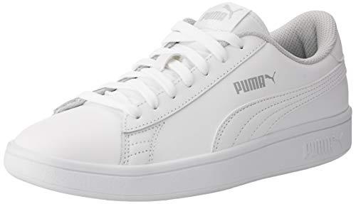 Puma Smash v2 L Jr, Sneakers Basses Mixte Enfant, Blanc...