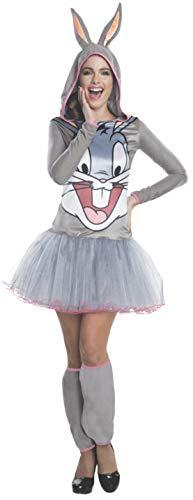 Bugs Bunny Kostüm für Damen - Hoodie Dress - - Bugs Bunny Kostüm Für Erwachsene