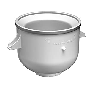 KitchenAid 5KICA0WH Ice Cream Maker (Optional Accessory for all 4.3 Litre/4.8 Litre/6.9 Litre KitchenAid Stand Mixers)