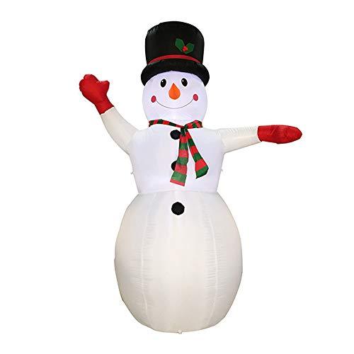 XSWE Aufblasbare Anzug-Party, Weihnachts-Garten Dekoration Snowman Aufblasbares Modell, -
