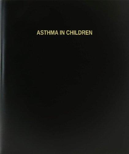 """BookFactory® Asma en los niños libro de registro/diario/diario página–120, 8,5""""x11,"""" negro Hardbound (xlog-120–7cs-a-l-black (Asma en niños libro de registro))"""