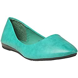 abof Women Turquoise Blue Ballerinas