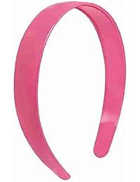 Girls Fuchsia Plastic Hair Hoop Headband Ornament w Teeth