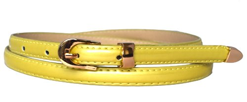 ladies-women-fashion-skinny-thin-pu-leather-waist-belt-gold-green
