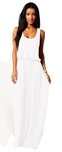 Mikos Damen-Kleid, Bodenlanges Maxikleid, ideal für Sommer und Urlaub, Boho-Style S M L 36 38 40...