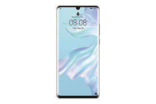 """Huawei P30 Pro (Preto) e capa transparente, 8GB RAM, 128 GB de memória, 6.47 Display """"FHD +, câmera traseira quádrupla para efeitos Bokeh avançados, câmera frontal 32 Mpx HDR +"""