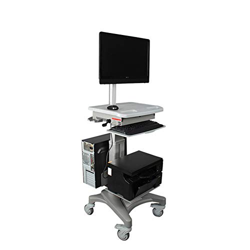 Exing TV-Stand, Video Conference Commercial Home Universal Stand Medical LCD Monitor Trolley Bracket Boden Mobile Lifting Computer Bracket Commercial Lcd Monitor