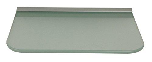 Glasregal 30x20 cm Glas Satiniert mit Profil Silber, abgerundete Ecken ROY15 / 1 Regal