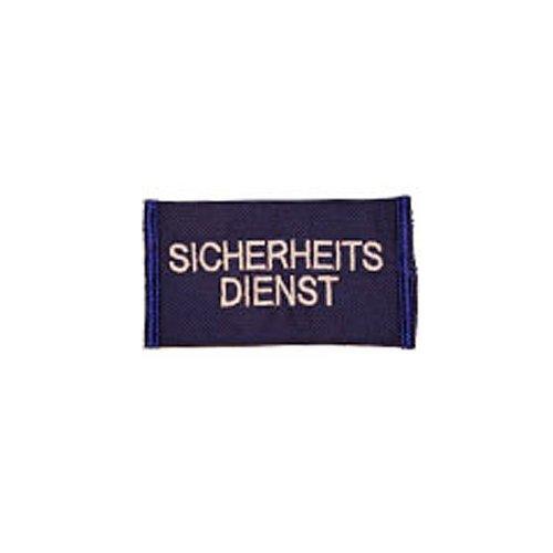 Schulterstücke Sicherheitsdienst weiß auf blau