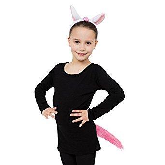 5Einhorn Ohren und Schwanz Kostüm Set, Pink, One size (Weihnachten Krippe Kostüme)