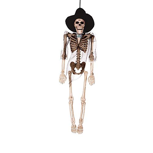 MSSJ Hängende bewegliche Skelette Ganzkörper mit Kostüm Halloween Skeleton Body Zubehör für die Beste Home Party Halloween Dekoration1