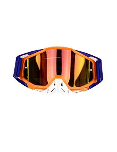 WYSTAO Outdoor-Sportbrillen, Motorradbrillen, Wind- und staubdicht, Skifahren, Wintersport, Geländefahrzeuge, Langlaufbrillen, Outdoor-Ausrüstung für Männer und Frauen (Color : Two)