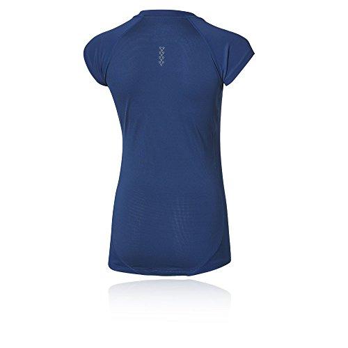 Asics–Maglietta da donna Capsleeve, Donna, blu, L blu