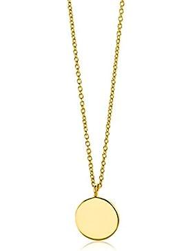 Miore Damen Gelbgold Halskette 9KT (375) von 45 cm Goldkette