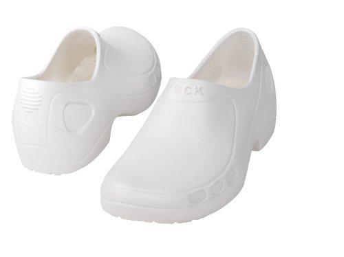 Everlite fermée-Chaussure professionnelle WOCK- Chaussure fermée; Ultralégère; Antistatique; Absorption des chocs Blanc