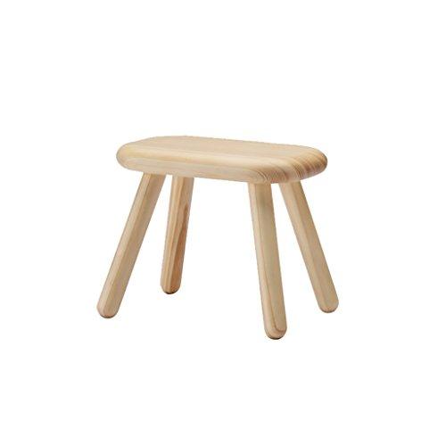 QINGPINGGUO QPG Kiefer Schuhbank Massivholz Hocker Kreative Hocker Mode Hocker Kinder Erwachsene Holzhocker Haushalt Schuh Hocker (18 * 30 * 25cm) -