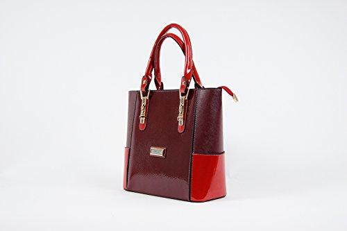 Tasche Damentasche Handtasche Luxus Taymir Schlangendesign 2 Jahre Garantie NEU Bordeaux-Rot