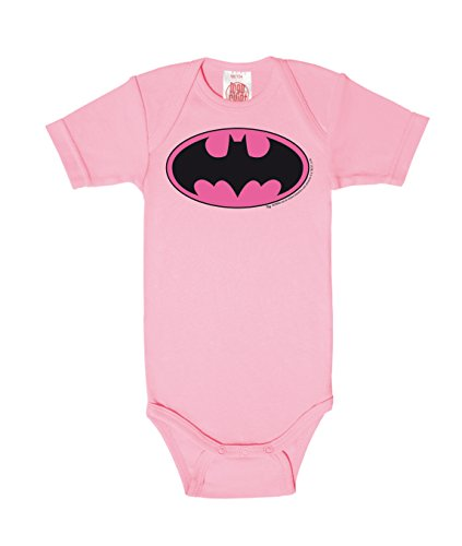 Body para bebé Batman Logotipo ROSA - DC Comics - Batman Logo PINK -