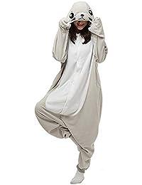 SALICEHB Grey Seal Sea Lion Tier Cartoon Siamese Pyjamas Langarm Paar Pyjamas Männer Und Frauen Nach Hause Service
