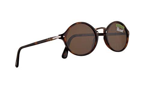 Persol Männer PO3208S Schreibmaschine Entwicklung Sonnenbrille w/Polarized Brown 53mm Objektiv 2457 PO 3208S PO 3208S PO3208S Havana groß