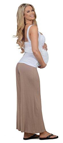 Femme maternité Pantalon jambe large Jersey style boho taille élastique ceinture taupe stardust