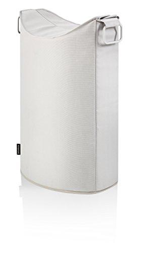 Blomus frisco portabiancheria in alluminio satinato e fibra sintetica colore sabbia