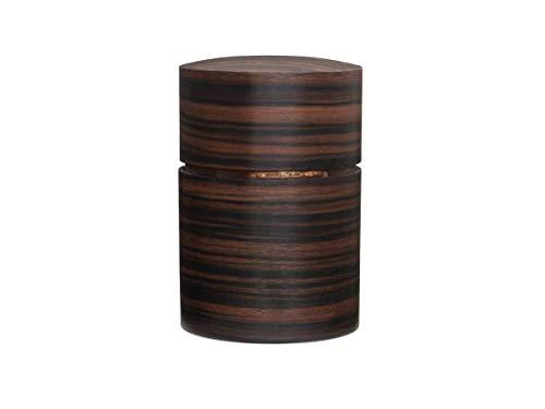 Denshiro - Japanische Teedose Rund 150g Losen Tee, Obizutsu Ebony, Braun, Eben-Holz und Kirschbaum-Rinde. Zwei Aroma-Deckel, von Hand in Japan Gefertigt, Geschenk-Verpackung