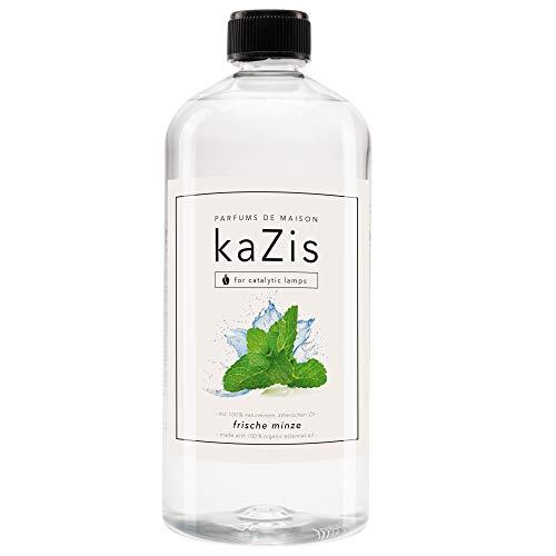 KAZIS I Minze Raum Duft I Passend für alle katalytischen Lampen I Parfums de Maison I Nachfüll-Öl (Refill) I 1000 ml I 1 Liter