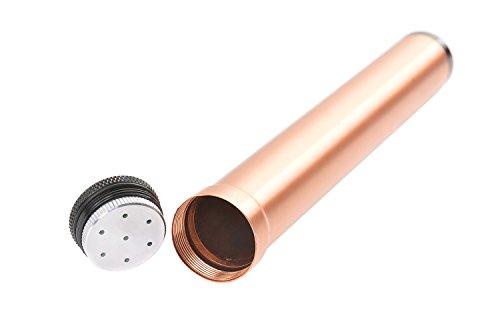 Tubo porta sigaro da viaggio in lega d'alluminio, 19,5cm x 2,5cm, bronzo, Mod. 5294-02