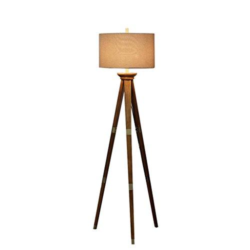 Stehlampe, Wohnzimmer kreative Mode warmen Schlafzimmer amerikanischen Land Nordic Massivholz Stativ Stehlampen Energie sparen